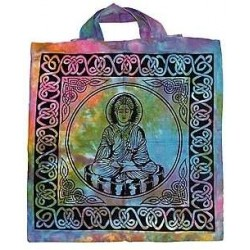 Buddha Tie Dye Cotton Tote Bag