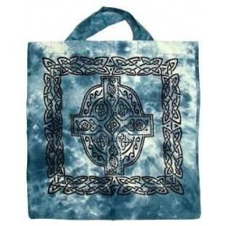 Celtic Cross Cotton Tote Bag Tree of Life Journeys Reconnect with Yourself - Meditation, Law of Attraction, Spiritual Products