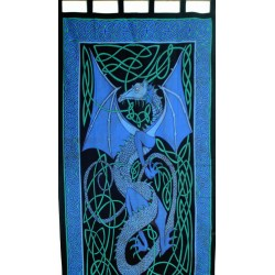Celtic English Dragon Curtain - Blue Tree of Life Journeys Reconnect with Yourself - Meditation, Law of Attraction, Spiritual Products