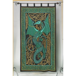 Celtic English Dragon Curtain - Green Tree of Life Journeys Reconnect with Yourself - Meditation, Law of Attraction, Spiritual Products