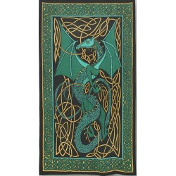Celtic English Dragon Tapestry - Twin Size Green Tree of Life Journeys Reconnect with Yourself - Meditation, Law of Attraction, Spiritual Products