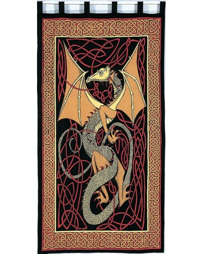 Celtic English Dragon Curtain - Red at Tree of Life Journeys, Reconnect with Yourself - Meditation, Law of Attraction, Spiritual Products