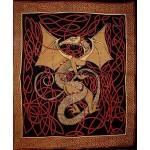 Celtic English Dragon Tapestry - Full Size Red at Tree of Life Journeys, Reconnect with Yourself - Meditation, Law of Attraction, Spiritual Products