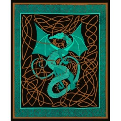 Celtic English Dragon Tapestry - Full Size Green Tree of Life Journeys Reconnect with Yourself - Meditation, Law of Attraction, Spiritual Products