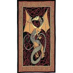 Celtic English Dragon Tapestry - Twin Size Red at Tree of Life Journeys, Reconnect with Yourself - Meditation, Law of Attraction, Spiritual Products