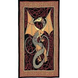 Celtic English Dragon Tapestry - Twin Size Red Tree of Life Journeys Reconnect with Yourself - Meditation, Law of Attraction, Spiritual Products