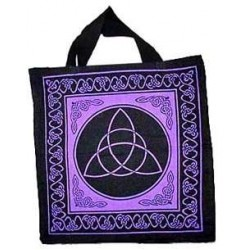 Triquetra Charmed Symbol Cotton Tote Bag Tree of Life Journeys Reconnect with Yourself - Meditation, Law of Attraction, Spiritual Products