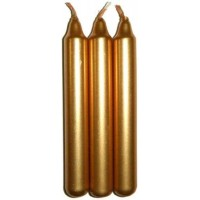 Gold Metallic Mini Taper Spell Candles