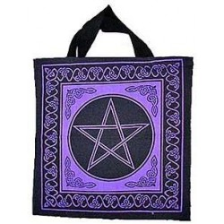 Pentagram Cotton Tote Bag Tree of Life Journeys Reconnect with Yourself - Meditation, Law of Attraction, Spiritual Products