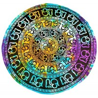 Om Chakra Round Table Cover