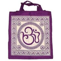 Sacred Om Symbol Cotton Tote Bag Tree of Life Journeys Reconnect with Yourself - Meditation, Law of Attraction, Spiritual Products