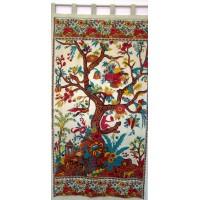 Tree of Life Curtain - Beige