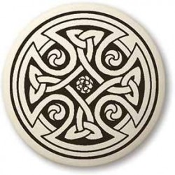 Celtic Cross Round Porcelain Necklace Tree of Life Journeys Reconnect with Yourself - Meditation, Law of Attraction, Spiritual Products