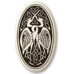 Birds Celtic Porcelain Oval Necklace Tree of Life Journeys Reconnect with Yourself - Meditation, Law of Attraction, Spiritual Products