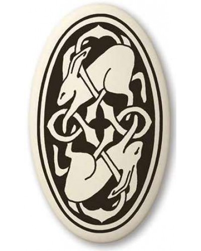 Hare Celtic Rabbit Porcelain Oval Necklace at Tree of Life Journeys, Reconnect with Yourself - Meditation, Law of Attraction, Spiritual Products