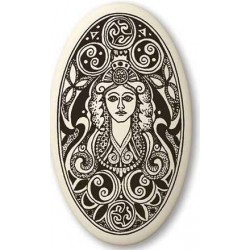 Brigantia Celtic Goddess Porcelain Oval Necklace Tree of Life Journeys Reconnect with Yourself - Meditation, Law of Attraction, Spiritual Products