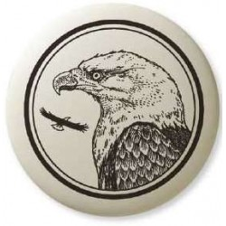 Bald Eagle Pathfinder Animal Totem Porcelain Necklace Tree of Life Journeys Reconnect with Yourself - Meditation, Law of Attraction, Spiritual Products
