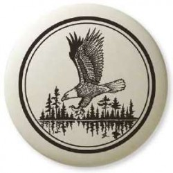 Bald Eagle Soaring Pathfinder Totem Porcelain Necklace Tree of Life Journeys Reconnect with Yourself - Meditation, Law of Attraction, Spiritual Products