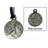 Aquarius Zodiac Pewter Necklace