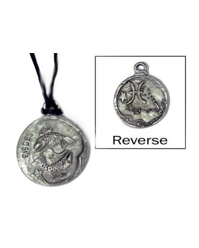 Pisces Zodiac Pewter Necklace at Tree of Life Journeys, Reconnect with Yourself - Meditation, Law of Attraction, Spiritual Products