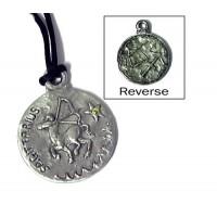 Sagittarius Zodiac Pewter Necklace