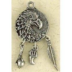 Eagle Animal Spirit Pewter Necklace Tree of Life Journeys Reconnect with Yourself - Meditation, Law of Attraction, Spiritual Products