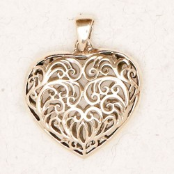 Filigree 2 Sided Heart Bronze Necklace Tree of Life Journeys Reconnect with Yourself - Meditation, Law of Attraction, Spiritual Products