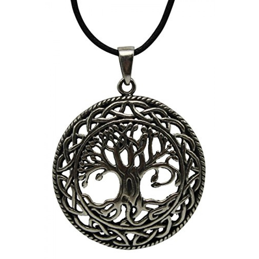 Celtic Tree Of Life Pewter Necklace Wicca Pagan Jewelry