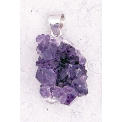 Amethyst Natural Druzy Pendant Tree of Life Journeys Reconnect with Yourself - Meditation, Law of Attraction, Spiritual Products