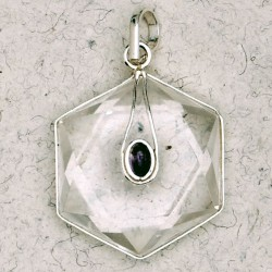 Clear Quartz 6 Point Prisma Star with Gemstone Pendant Tree of Life Journeys Reconnect with Yourself - Meditation, Law of Attraction, Spiritual Products