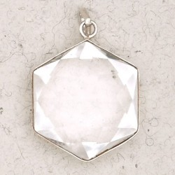Clear Quartz 6 Point Prisma Star Pendant Tree of Life Journeys Reconnect with Yourself - Meditation, Law of Attraction, Spiritual Products