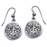 Tree of Life Sterling Silver Earrings at Tree of Life Journeys, Reconnect with Yourself - Meditation, Law of Attraction, Spiritual Products