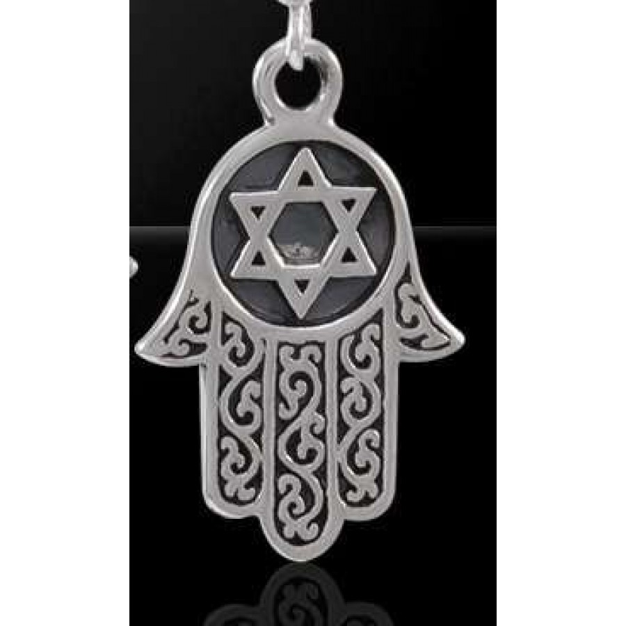 Hamsa star of david sterling silver pendant judiasm jewish jewelry hamsa star of david sterling silver pendant at tree of life journeys reconnect with yourself biocorpaavc