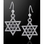 Double Star of David Sterling Silver Earrings at Tree of Life Journeys, Reconnect with Yourself - Meditation, Law of Attraction, Spiritual Products
