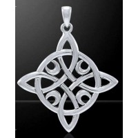 Quaternary Celtic Cross Silver Pendant by Mickie Mueller