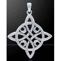 Quaternary Celtic Cross Silver Pendant Tree of Life Journeys Reconnect with Yourself - Meditation, Law of Attraction, Spiritual Products