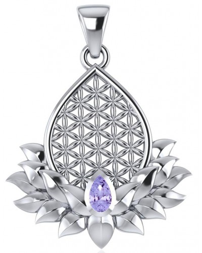 Lotus Flower of Life Amethyst Pendant at Tree of Life Journeys, Reconnect with Yourself - Meditation, Law of Attraction, Spiritual Products