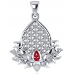Lotus Flower of Life Garnet Pendant at Tree of Life Journeys, Reconnect with Yourself - Meditation, Law of Attraction, Spiritual Products