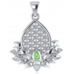 Lotus Flower of Life Peridot Pendant at Tree of Life Journeys, Reconnect with Yourself - Meditation, Law of Attraction, Spiritual Products