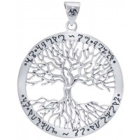 Wiccan Tree of Life Rune Pendant