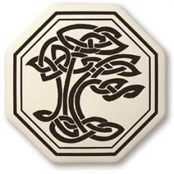 Sacred Tree of Life Porcelain Octagon Necklace