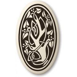 Sacred Tree of Life Porcelain Oval Necklace