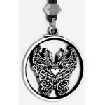 Double Phoenix Pewter Pendant at Tree of Life Journeys, Reconnect with Yourself - Meditation, Law of Attraction, Spiritual Products
