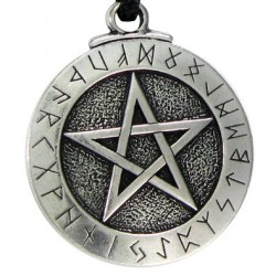 Runic Pentacle Pewter Necklace Tree of Life Journeys Reconnect with Yourself - Meditation, Law of Attraction, Spiritual Products