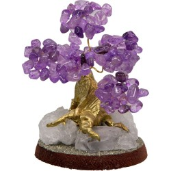 Amethyst Gemstone Wishing Tree Tree of Life Journeys Reconnect with Yourself - Meditation, Law of Attraction, Spiritual Products