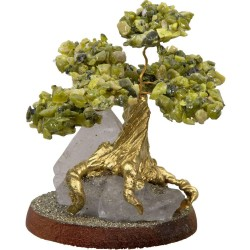 Serpentine Gemstone Wishing Tree Tree of Life Journeys Reconnect with Yourself - Meditation, Law of Attraction, Spiritual Products
