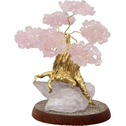 Rose Quartz Gemstone Wishing Tree Tree of Life Journeys Reconnect with Yourself - Meditation, Law of Attraction, Spiritual Products