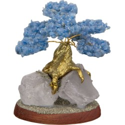 Angelite Gemstone Wishing Tree Tree of Life Journeys Reconnect with Yourself - Meditation, Law of Attraction, Spiritual Products