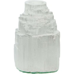 Selenite Iceberg Tea Light Candle Holder Tree of Life Journeys Reconnect with Yourself - Meditation, Law of Attraction, Spiritual Products
