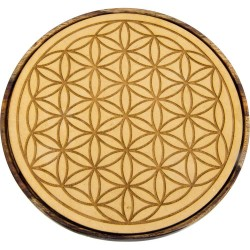 Flower of Life Wood Crystal Grid Tree of Life Journeys Reconnect with Yourself - Meditation, Law of Attraction, Spiritual Products